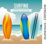 surfing graphic design   vector ... | Shutterstock .eps vector #230536246