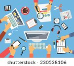 business people. workplace flat ... | Shutterstock .eps vector #230538106
