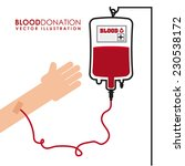 donate blood graphic design  ... | Shutterstock .eps vector #230538172
