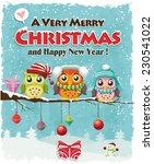 vintage christmas poster design ... | Shutterstock .eps vector #230541022