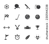sport icon | Shutterstock .eps vector #230544238