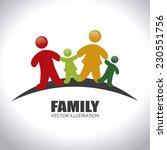 family design over white... | Shutterstock .eps vector #230551756