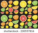 collection of citrus slices  ... | Shutterstock .eps vector #230557816