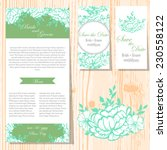 wedding invitation cards with... | Shutterstock .eps vector #230558122