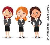attractive woman in business... | Shutterstock .eps vector #230562982