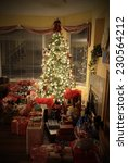 christmas tree with gifts   all ... | Shutterstock . vector #230564212
