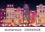 Europe City Houses At Christmas ...