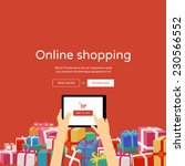 online shopping with christmas... | Shutterstock .eps vector #230566552