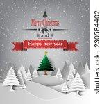 vector illustration of merry... | Shutterstock .eps vector #230584402