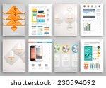 set of flyer  brochure design... | Shutterstock .eps vector #230594092