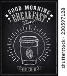 vintage poster   breakfast ... | Shutterstock .eps vector #230597128