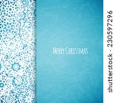 merry christmas card with... | Shutterstock .eps vector #230597296