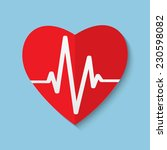 vector cardiogram or heart... | Shutterstock .eps vector #230598082