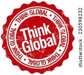 think global stamp   Shutterstock .eps vector #230598232
