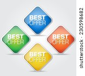 best offer colorful vector icon ... | Shutterstock .eps vector #230598682