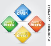 winter offer colorful vector... | Shutterstock .eps vector #230598685
