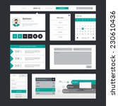set of flat ui web design ...