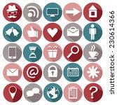 vector icons for website | Shutterstock .eps vector #230614366