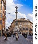 rome  italy  on february 21 ... | Shutterstock . vector #230631508