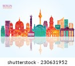 Stock vector berlin skyline vector illustration 230631952