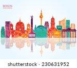 berlin skyline. vector...