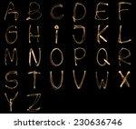 Alphabet Written With A...