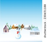 christmas landscape with fir... | Shutterstock .eps vector #230651188