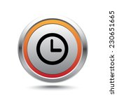 steel button clock vector icon