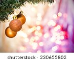 christmas ornaments with... | Shutterstock . vector #230655802