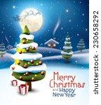 Christmas Tree On Full Moon...