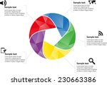 Circle Infographic With Five...