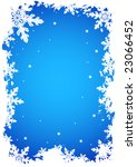 christmas card as a winter... | Shutterstock .eps vector #23066452