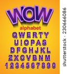 funny colorful alphapet font to ...   Shutterstock .eps vector #230666086