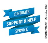 customer support and help... | Shutterstock . vector #230667502