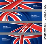 uk flag color background... | Shutterstock .eps vector #230669422