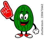 watermelon with foam finger | Shutterstock .eps vector #230672662