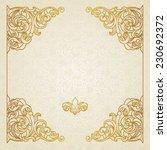 filigree vector frame in... | Shutterstock .eps vector #230692372