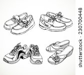 sketch of shoes for men and... | Shutterstock .eps vector #230700448