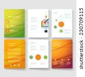 vector brochure design... | Shutterstock .eps vector #230709115