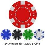 red casino poker chip front... | Shutterstock .eps vector #230717245