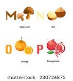 alphabet m p letter.mushroom... | Shutterstock .eps vector #230726872