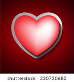 paper red heart banner with... | Shutterstock .eps vector #230730682