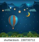 abstract paper cut hot air...   Shutterstock .eps vector #230733712