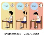 student  learning | Shutterstock .eps vector #230736055