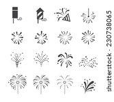 fireworks icon | Shutterstock .eps vector #230738065