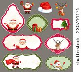 christmas label set. holiday... | Shutterstock .eps vector #230744125
