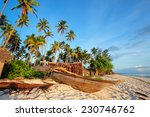 wooden sailboat   dhow  and... | Shutterstock . vector #230746762