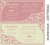baroque invitation card in old... | Shutterstock .eps vector #230750662