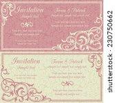 baroque invitation card in old... | Shutterstock .eps vector #230750662