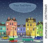 city street at christmas night. ... | Shutterstock .eps vector #230750665
